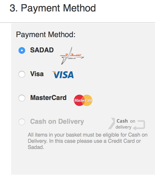 SADAD Payment Option